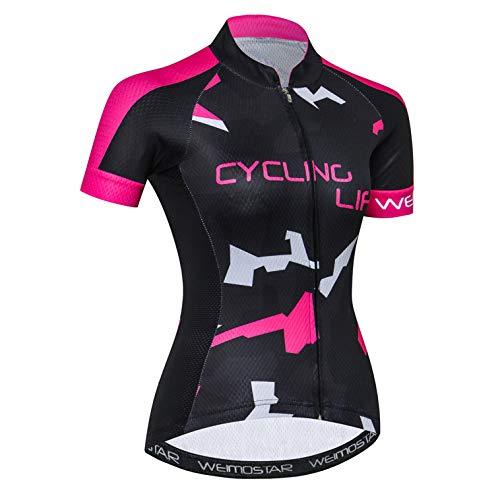 weimostar Maillots de ciclismo para mujer Tops de equipo, deportes de senderismo,...