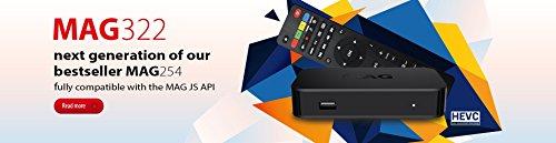 Original Infomir MAG 322 IPTV Set TOP Box Multimedia Player Internet TV IP Receiver (HEVC H.265 Support) + HDMI Kabel