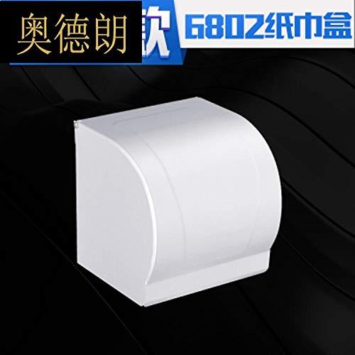 Joeesun Raum Aluminium wasserdicht Tissue Box Lange Toilettenbox Rollenpapier mit Aschenbecher Tissue Box Quadrat Gras Karton Box-Short halbrunde Toilettenschale