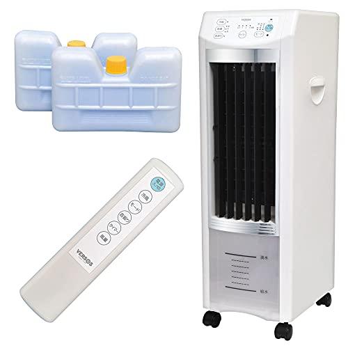 UP STORE 冷風扇 冷風扇風機 リモコン AC電源 マイナスイオン発生 タイマー 抗菌加工 エアコンが苦手な方 省エネ 熱中症対策家電 (冷風扇 キャスター付き 3.8L)