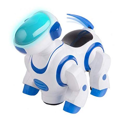 Kids Tech VA90024 Interactive Robotic Dog, Bump & Go, Lights Up Toy, Wagging Tail, Wiggling Head,...
