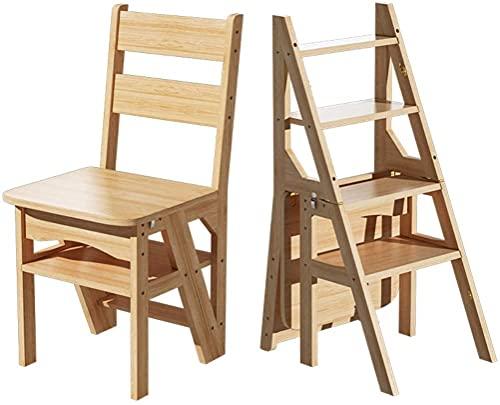 KMILE Taburete plegable para plantas con 4 escalones para el hogar | Escalera plegable de madera | Taburetes de pie para interiores | Banco de zapatos portátil/estante de flores