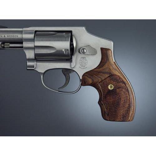 Hogue J Frame Round Butt Bantam Coco Bolo Checkered Gun Grips