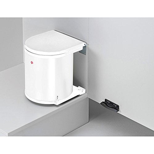 WESCO Abfallsorter RUND weiß / ab 40 cm Schrankbreite / Mülleimer / Schwenkeimer