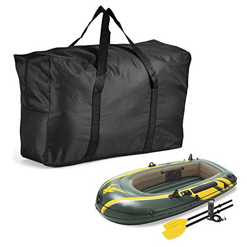 N/K Boat Raft Bag, Inflatable Kayak Storage Bag, Black Oxford Canvas Portable Bag Large Capacity for 1/2/3 Inflatable Boats Kayaks, 27.56x17.32x5.90in