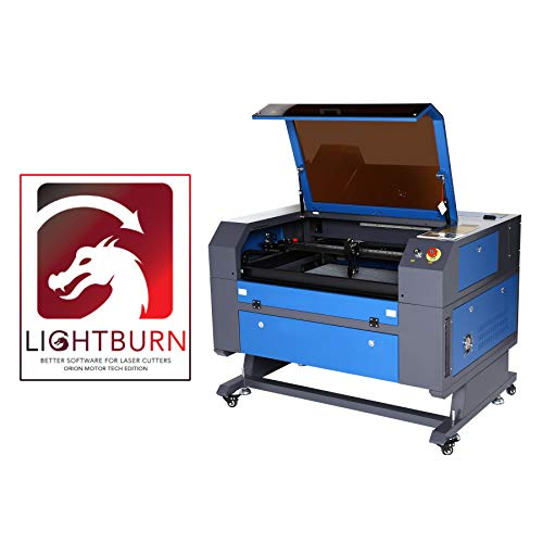 """Orion Motor Tech Upgraded 60W CO2 Laser Engraving Cutting Machine, 20"""" x 28"""" Laser Engraver with DSP Control System and LightBurn Software, Compatible with Windows, Mac OSX, Linux"""