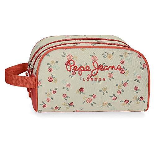 Pepe Jeans Joseline - Neceser con Doble Compartimento, Multicolor, 26 cm