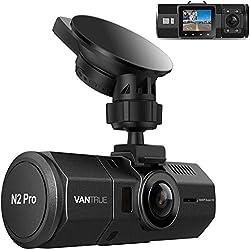 前後カメラ ドライブレコーダー 1080P+1080P VANTRUE N2Pro 車内 + 車外 24時間駐車監視 前後一体型 2.5K&1440P 赤外線暗視機能 ドラレコ 車内撮影 HDR 2カメラ 防犯用 SONY製センサー LED信号機対策 フルHD ドライブ レコーダー 1.5型LCD 170+140度広視野角 GPS機能(別売) 前後同時録画 18ヶ月保証期間 動体検知 衝撃録画 高速起動 12V-24V対応 256GB(別売)サポート 日本語説明書付き