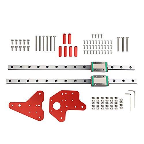 SUOFEILAIMU 2X Linear Slide Rail Guide + 2 MGN12H Block Kit Set CNC Machine 3D Printer