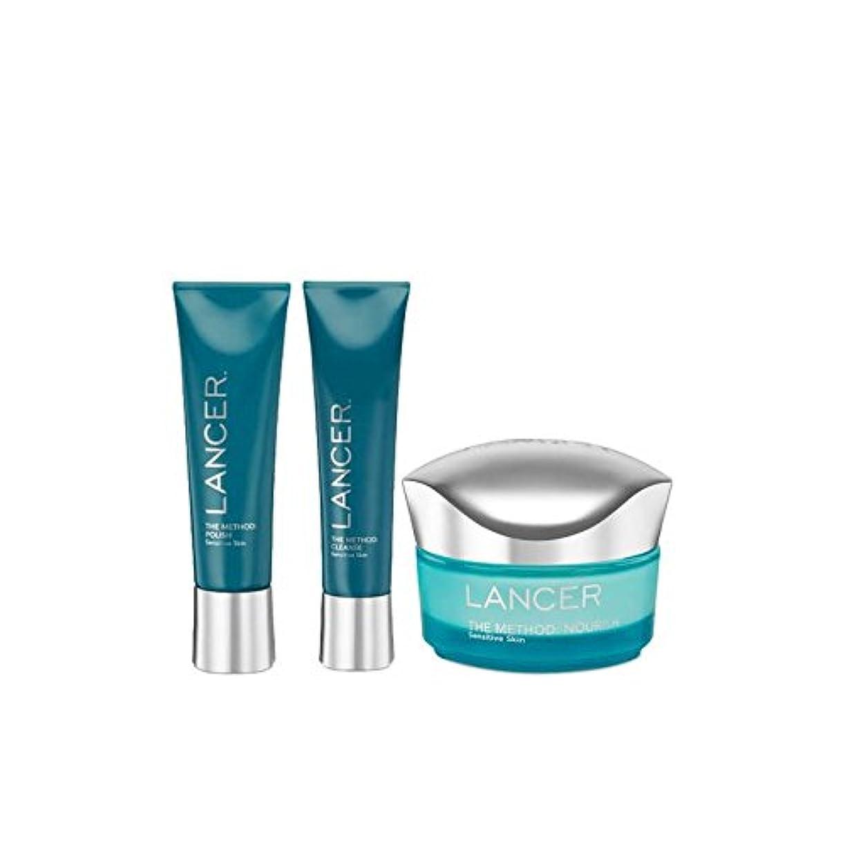 ランサーランサー方法が敏感スキンケア x4 - Lancer Skincare The Lancer Method Sensitive (Pack of 4) [並行輸入品]