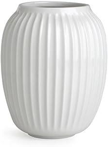 Kähler Hammershøi Vase, Keramik, Weiß, 20 x 16,5 cm