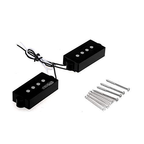 Wilkinson Variable Gauss Cerámica Tradicional Pastillas Humbuckers Precision Bass Pickups Set para Bajo Eléctricos P-Style, Negro