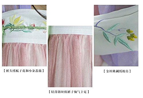 『中国伝統衣装時代服唐装漢服刺繍齐胸襦裙ステージ衣装卒業式お祭り オーダー製作 (L) [並行輸入品]』の4枚目の画像