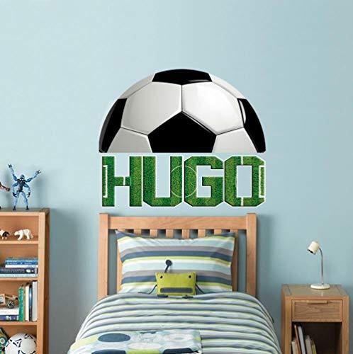 Wandtattoo Football custom personalized name wall stickers home decoration art children kids