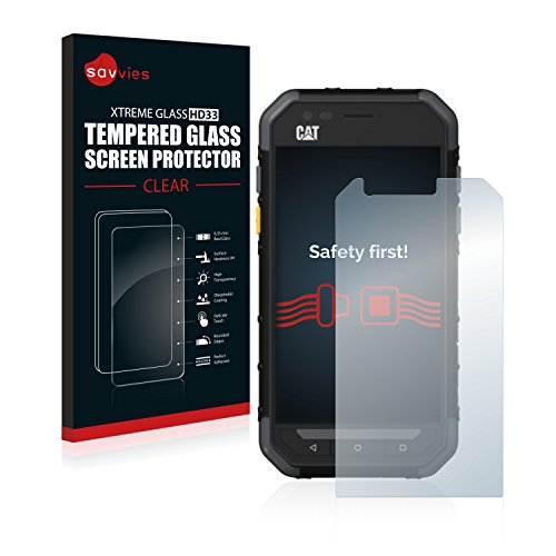 Savvies Panzerglas kompatibel mit Caterpillar Cat S30 - Echt-Glas, 9H Härte, Anti-Fingerprint