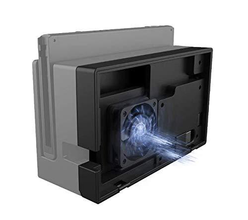 PeakLead Refrigerador Ventilador de refrigeración Compatible con Nintendo Switch Dock, Súper USB Cooling Fan Cooler Stand para N-Switch Docking Station