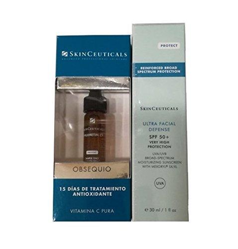 SkinCeuticals Protect Ultra Facial Defense Protecteur solaire SPF +50 de 30ml + soin Phloretin CF...