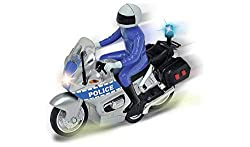 Switch on the lights of your police bike and race into action to keep the people of Chad Valley safe. This 15cm bike lights up and makes realistic police siren sounds so everyone will know you're speeding in to save the day. The bike comes with a dri...