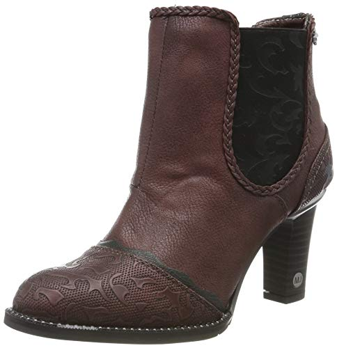 MUSTANG Damen 1337-504-55 Chelsea Boots, Rot (Bordeaux 55), 40 EU