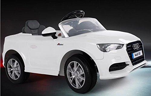 Babycar Auto Elettrica Audi A3 S Line Bianca 12 Volt Con Telecomando E Ammortizzatori Reali Per Bambini
