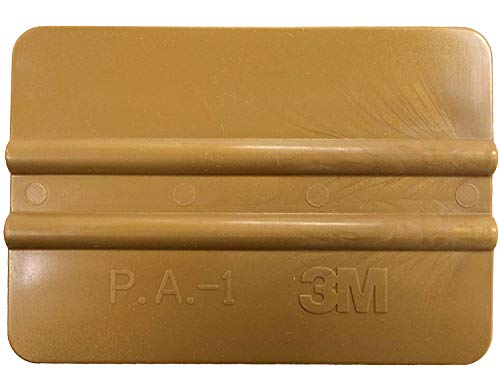 Kantenrakel 3M, Folienrakel, Rakel, Handrakel, zur Verklebung von Folien, Verklebungshilfe, Verklebehilfe, Werkzeug, Kunststoffrakel, Goldrakel, Farbe gold