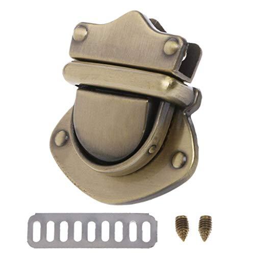 SimpleLife Metal Clasp Handtasche Schultertasche Turn Lock Twist Locks Geldbörse DIY-Hardware-Zubehör, 3.8x4x2.9cm