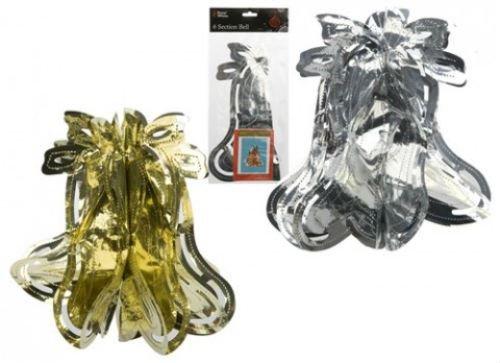 Kerstmis Zilveren Folie Bell 12 Inch - Enkel
