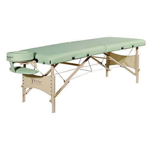 Master Massage 64cm Paradise Mobil tragbar Massageliege Massagebett Massagebank Kosmetikliege Lily Grün