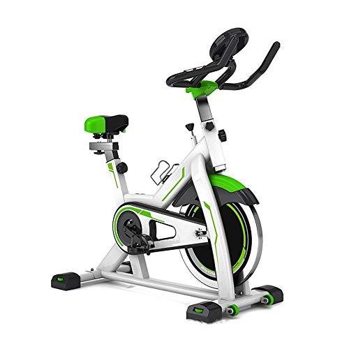 Yamyannie Bicicletas de Ejercicio Ejecución del Pedal de Bicicleta de Ejercicios Inicio Deportes Indoor Bike Adecuado for la Familia de Interior para Fitness (Color : Verde, Size : 107x57x120cm)