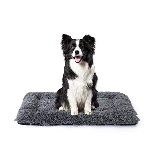 INGALIK Ultra Soft Plush Pet Dog Bed,Anti-Slip Pet Bed Mat for Pets Deep Sleeping,for Large Medium Small Dogs or Cats Bed,Machine Washable Pet Bed Liner(36Inch Grey)