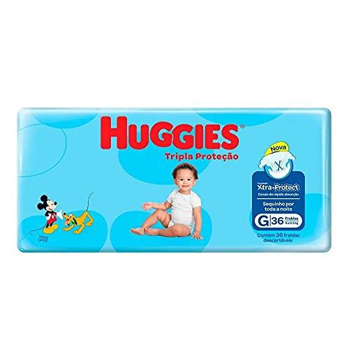 Fralda Huggies Tripla Proteção G Mega - 36 Unidades, Huggies