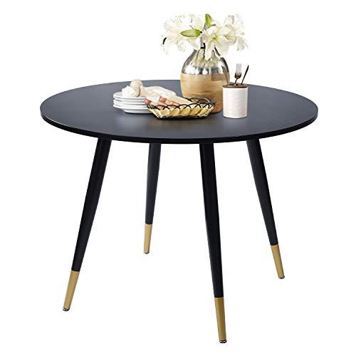 FurnitureR Eames Mesa de Comedor para 4 Personas Mesa de Comedor Redonda Blanca Cocina Moderna Ocio Mesa de Madera (Blanco)