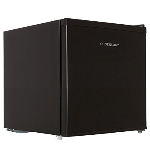 Cookology Table Top Mini Fridge A+ Rated, 46 Litre Refrigerator with Ice Box (Black)