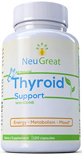 Thyroid Support with Iodine (120 Capsules & Non-GMO) Increase Metabolism, Improve Energy & Focus - Ashwagandha Root