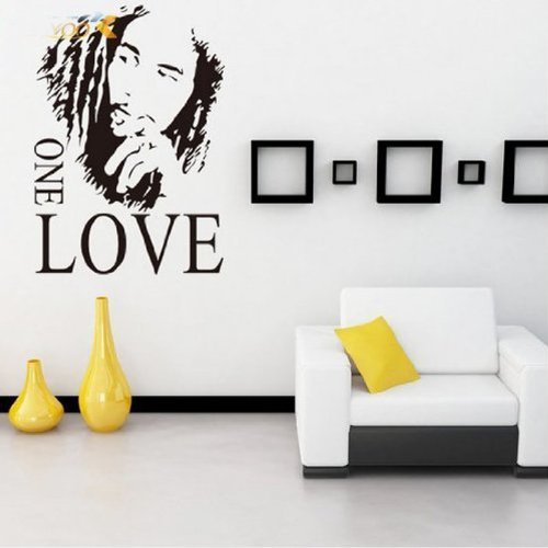 MZY LLC (TM) Bob Marley One Love Vinyl Kunst Wandbild Wandtattoo Home Aufkleber Decor Raum Musik Fan