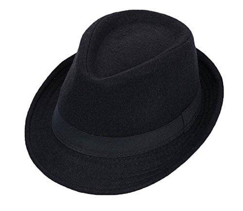 Black Temptation Sombrero Negro de Fedora Sombrero de Homburg
