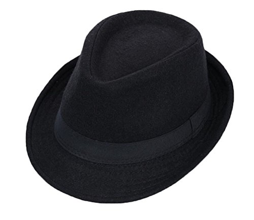 Black Temptation Schwarzer Fedora Hut Homburg Hut