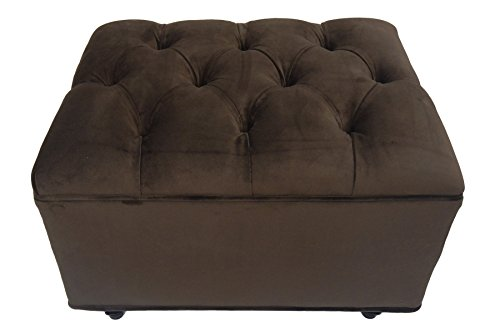 Fun Furnishings Tres Chic Ottoman, Chocolate