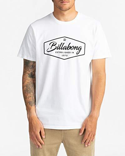 BILLABONG Trademark - Maglietta da Uomo Maglietta, Uomo, White, M
