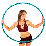 Weighted Hula Hoop for Exercise. Your Choice of Color. Made in The USA. (Amazonite, X-Large - 42'...