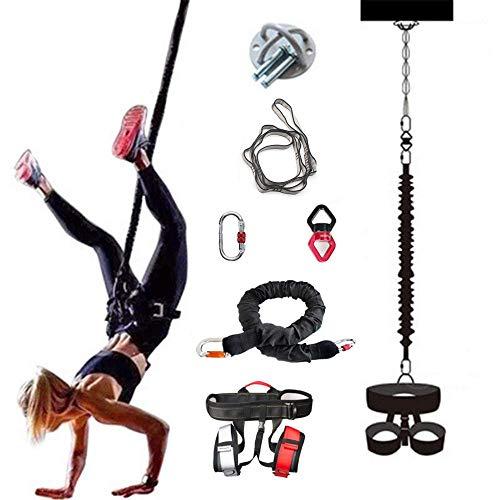 ZEH Luft Anti-Gravity-Schnur-Widerstand-Band-Set, Bungee-Tanz Fliegen Pilates Elastische Aufhängung Sling Trainer Pull Rope Workout Fitnessgeräte, 80KG FACAI (Color : 100kg)