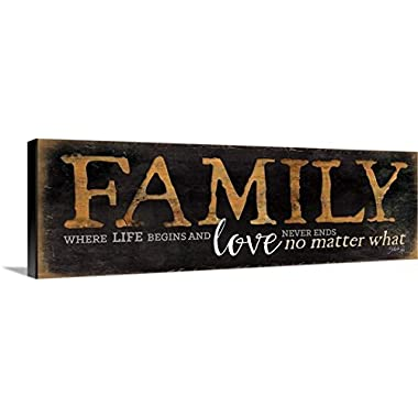 Marla Rae Premium Thick-Wrap Canvas Wall Art Print entitled Family - Where Life Begins 36 x12