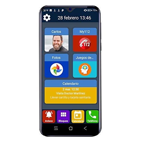Teléfono móvil para Personas Mayores Familyar con Iconos Grandes y Pantalla Principal Personalizable.