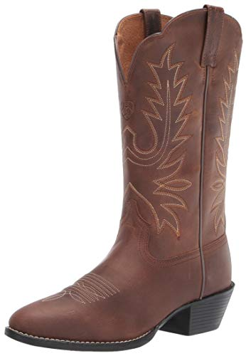 Ariat Women's Heritage R Toe Western Cowboy Boot, Distressed Brown, 8 Wide