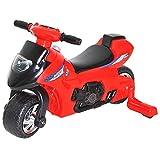 Homcom Porteur Enfants Moto 12-36 Mois avec stabilisateurs dim. 66L x 46l x 43H cm Effets Lumineux et sonores Rouge Noir