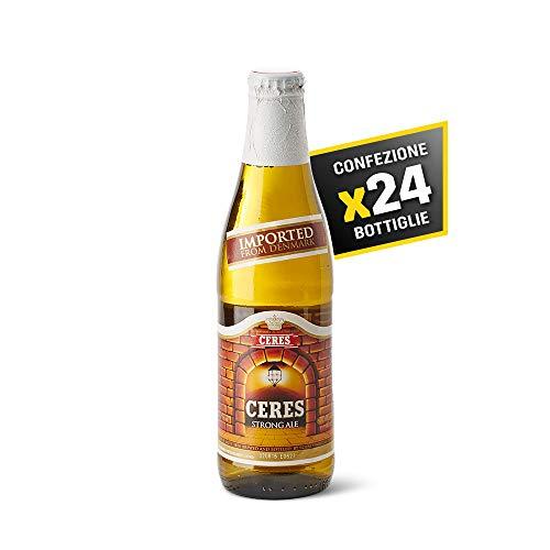 Ceres Strong Ale - Birra Chiara - Strong Lager Doppio Malto a Bassa Fermentazione - Cartone 24 Bottiglie da 33 cl