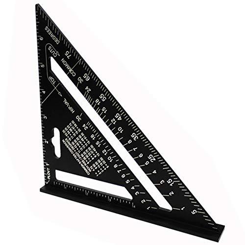 Oulensy Triángulo De 7 Pulgadas De Aleación De Aluminio Regla Transportador Ángulo Velocidad Métrica/Imperial Y1ad