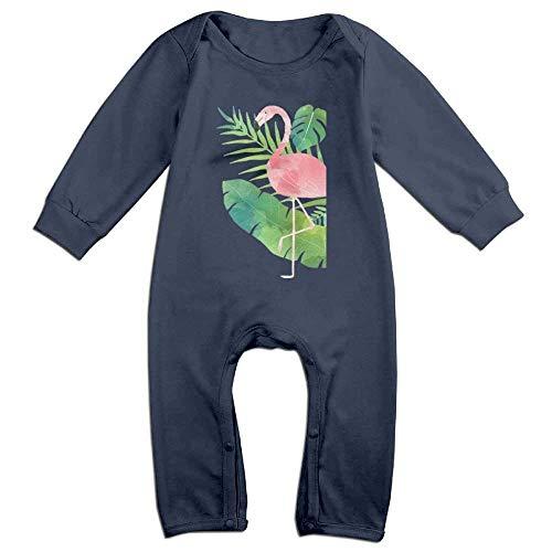 SDGSS Ropa para bebés Flamingo Novelty Baby Girl Boy Crawling Cartoon Baby Jumper