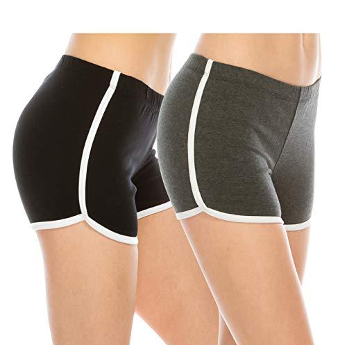 EttelLut Booty Fold Over/Regular Shorts Dance Yoga Sexy Exercise...