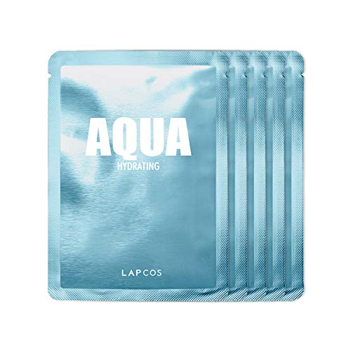 LAPCOS Collagen Sheet Mask, Daily Face Mask with Collagen Peptides for Wrinkles and Dark Spots, Korean Beauty Favorite, 5-Pack